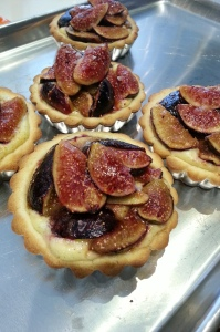 mission fig + goat cheese tart
