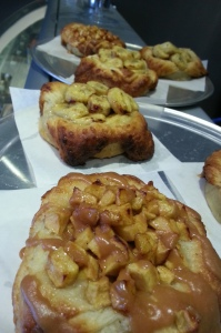 kouign amann (caramel apple + banana Valrhona)